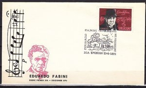 Uruguay, Scott cat. 797. Composer E. Fabini issue. First day cover. ^