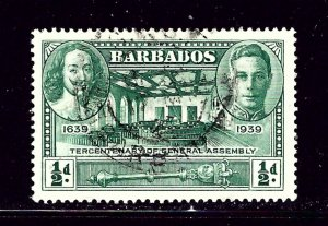 Barbados 202 Used 1939 issue   #2