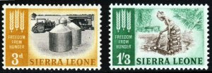 SIERRA LEONE QE II 1963 The Freedom From Hunger Set SG 255 & SG 256 MINT