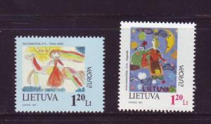 Lithuania Sc 568-9 1997 Europa stamp set mint NH