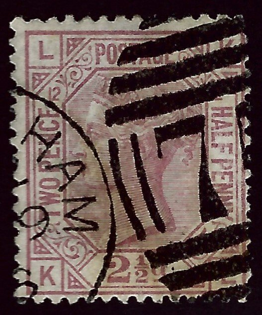 Great Britain SC#67 Pl16 Used F-VF hr SCV$52.50...Worth a close look!!