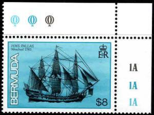 BERMUDA Scott 498 MNH** Tall Ship stamp top value in set