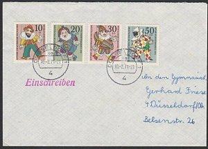 GERMANY Berlin : 1971 registered cover - nice franking......................K333