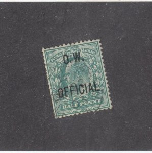 GB # O49 VF-KEV11 1/2p O.W.OFFICIAL O/PRINT CAT VALUE $160