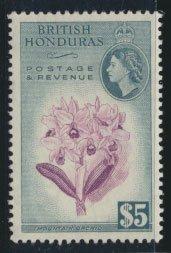 British Honduras SG 190 SC # 155 MVLH  perf 13½ Mountain Orchid  see scan