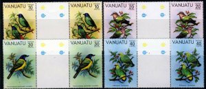 VANUATU 1981 Birds (1st. Series) Set GUTTER PAIRS SG 307 to SG 310 MNH