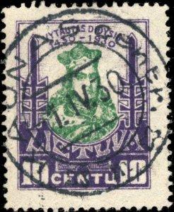 LITUANIE / LITHUANIA - 1930 - KAUNAS centr.  cds on Mi.296