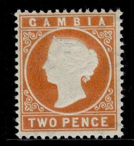 GAMBIA QV SG25, 2d deep orange, NH MINT.