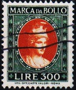 Italy. Date? 300L (Marca Da Bollo).Fine Used