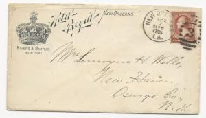 US ADV Cover Rivers & Bartels Proprietors New Orleans, LA April 7, 1885