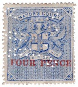 (I.B) QV Revenue : Mayor's Court 4d (1890)