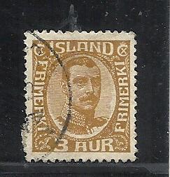 Iceland #109 used cv $17.50