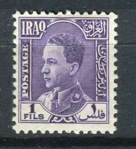 IRAQ; 1934 early Ghazi issue Mint hinged 1f. value