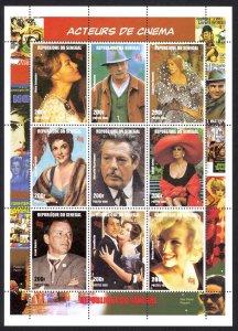 Senegal Sc# 1347 MNH Pane/9 1999 Actors & Actresses