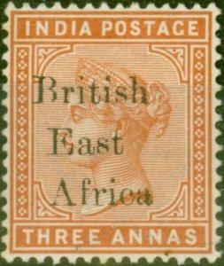 B.E.A KUT 1895 3a Brown-Orange SG54 Fine Mtd Mint