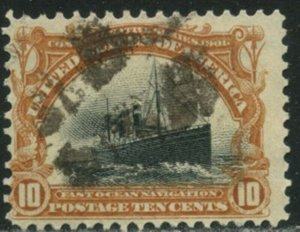 US Sc#299 1901 10c Ocean Navigation Pan-American F-VF & Sound Used
