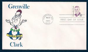 UNITED STATES FDC 39¢ Grenville Clark 1985 Ellis H-P