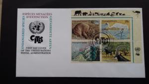UN New York 1993 Endangered Species  FDC