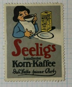 Seelig's Candied Coffee  German Brand Poster Stamp Ads