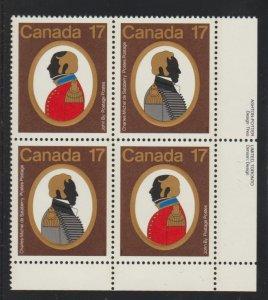 Canada 820a Colonels - Se-tenant block - MNH