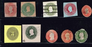 US CUT SQ STAMPS USED AND & MINT STAMPS COLLECTION LOT  #1