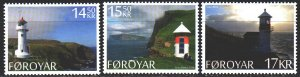 Faroe Islands. 2014. 806-8. Landscapes, lighthouses. MNH.