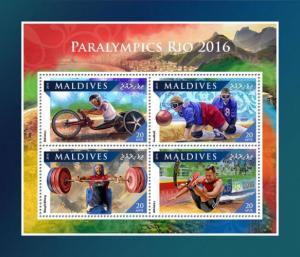 MALDIVES 2016 SHEET PARALYMPICS RIO SPORTS OLYMPIC GAMES mld161103a