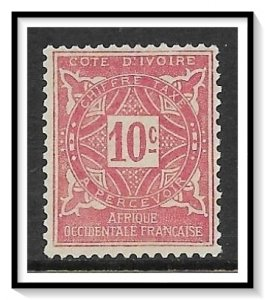 Ivory Coast #J10 Postage Due NG