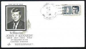 U.S.A. Sc#1246 John F. Kennedy Tucson, Ariz., Art Craft (1964) FDC