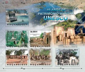 Mozambique - UNESCO Heritage - 6 Stamp Sheet - 13A-1098