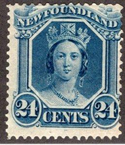 31, NSSC, Newfoundland, Canada, 24c, VG/F, MLHOG, Queen Victoria, Postage Stamp