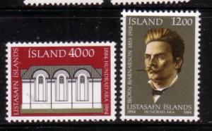 Iceland Sc600-1 1984 National Gallery stamp mint