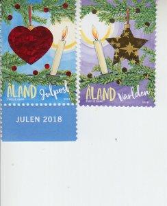 2018 Aland Islands Christmas (2)  (Scott NA) MNH