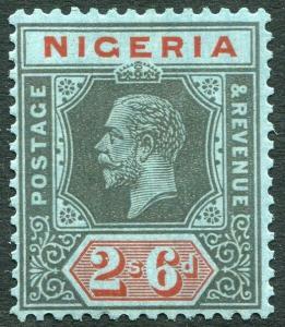 NIGERIA-1932 2/6 Black & Red/Blue Die I Sg 27a MOUNTED MINT V28381