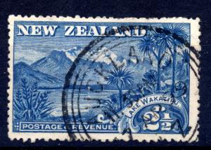 New Zealand 1898 sg 250 2 1/2d blue, fine used