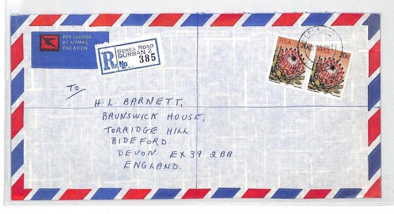 BT136 1981 South Africa Durban Commercial Air Mail Cover {samwells}PTS