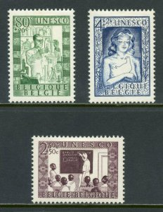 BELGIUM  SCOTT#B492/94  MINT HINGED WITH REMNANT -SCOTT $23.40 FOR NH