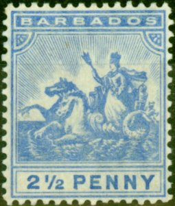 Barbados 1905 2s6d Blue SG139 Fine Lightly Mtd Mint