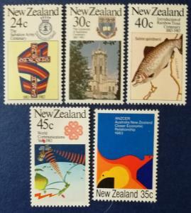 New Zealand # 771-775 MNH
