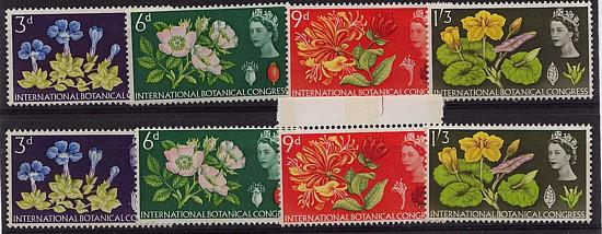 Great Britain - 1964 Botanical Congress Complete mint