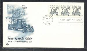 US #2129 Tow Truck Artcraft cachet unaddressed fdc