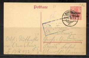 Romania # 3N9 on Post Card Used