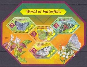 2014 Solomon Islands 2602-2605KL Butterflies 9,50 €
