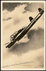3rd Reich Germany Luftwaffe Focke Wulfe FW189 Air Force Airplane  RPPC Fel 61531