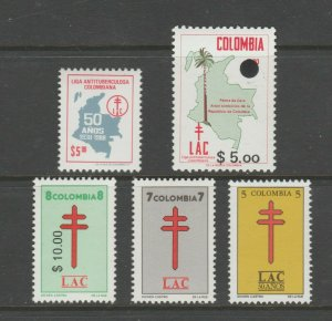 Colombia LAC Charity stamp 2-28-21 MNH Gum De la Rue -1970-80's? extra nice
