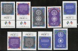 Palau Scott 155-63 MVFNHOG - Bicentennial US Constitution - SCV $4.20