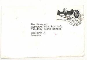 AI25 1965 GB TRANSORMA *33* Machine Sorting Trial Postmark Brighton Bank Cover