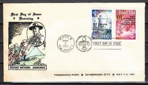 Philippines, Scott cat. 833a. Scout issue. Tete-Beche. First day cover. ^