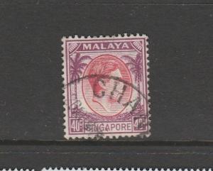 Singapore 1948/52 P 14 40c Used SG 26