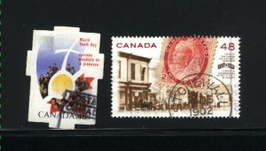 Canada #1956-57    used VF 2002 PD